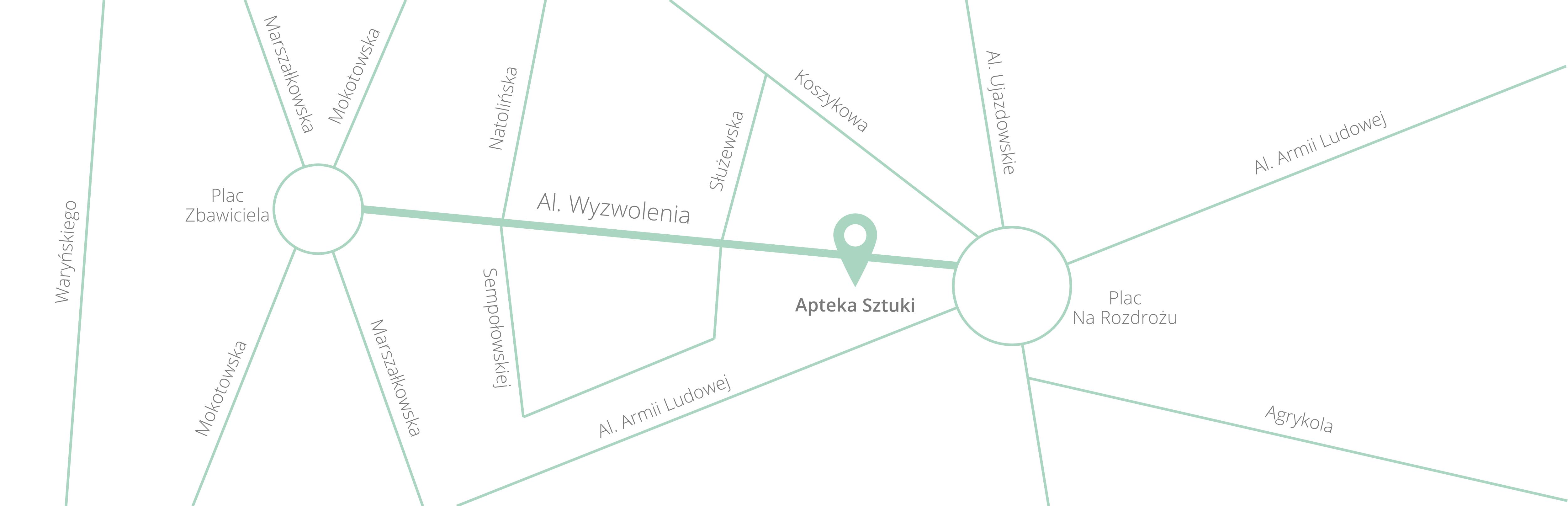 Mapka dojazdu do Galerii
