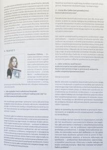 Zdjęcie z czasopisma: wywiad z Panią Zuzanną Oleksa, kierownikiem Galerii Apteka Sztuki