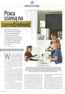 Zdjęcie z czasopisma: Artykuł o Galerii Apteka Sztuki, Praca szansą na samodzielność