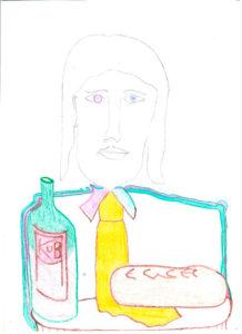 Zdjęcie pracy: Chrystus z żółtym krawatem