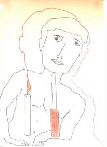 Zdjęcie pracy: Człowiek z nożem