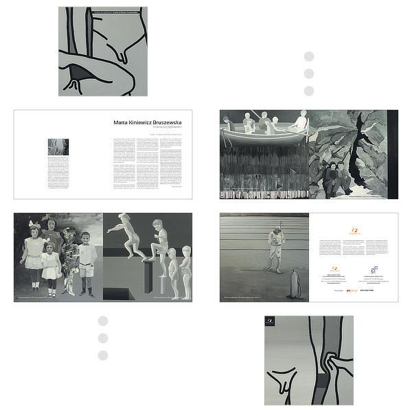 Album do wystawy Marty Kiniewicz–Bruszewskiej – przykładowe strony