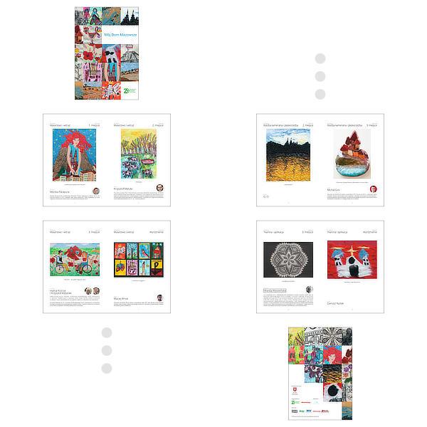 Katalog na finał konkusu Mój Dom Mazowsze – przykładowe strony