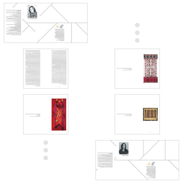 Albumy do wystawy Anny Michniewicz i Bogny Fogler – przykładowe strony