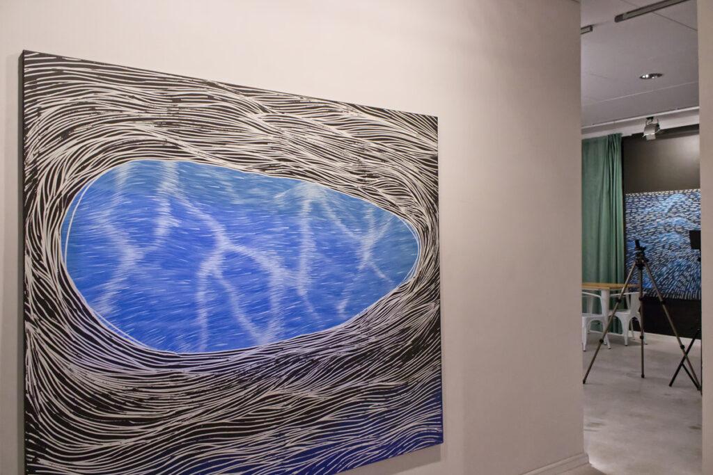 Zdjęcie sali z wystawy Reset Witolda Ziemiszewskiego